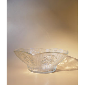 FLORAL FLUTED GLASS BOWL