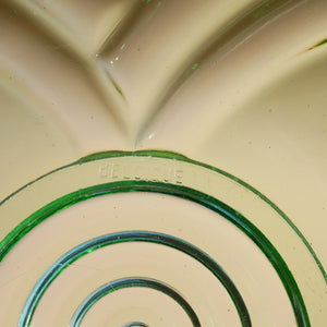 VINTAGE GREEN GLASS ART DECO BELGIQUE BOWL