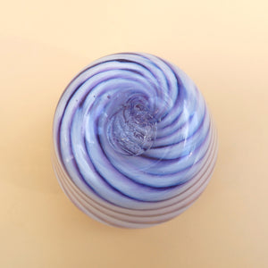 LILAC CANDY STRIPED SMALL GLASS VASE