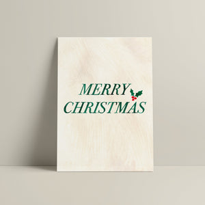 'MERRY CHRISTMAS' CHRISTMAS CARD