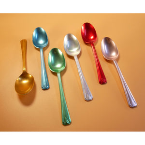 1950's ELKALIFE BOX SET OF COLOURED VINTAGE SPOONS