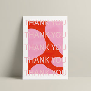 A PACK OF 6 THANK YOU NOTES