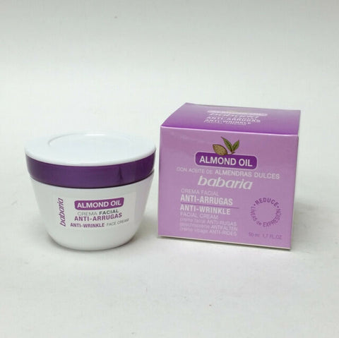 Babaria Almond Oil Anti-wrinkle Face Cream. 1.6 oz.