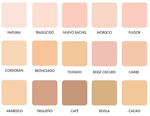 Maja Compact Cream Powder Color Chart - NOT FOR SALE