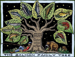 Salmon Family Tree T-Shirt (Unisex)