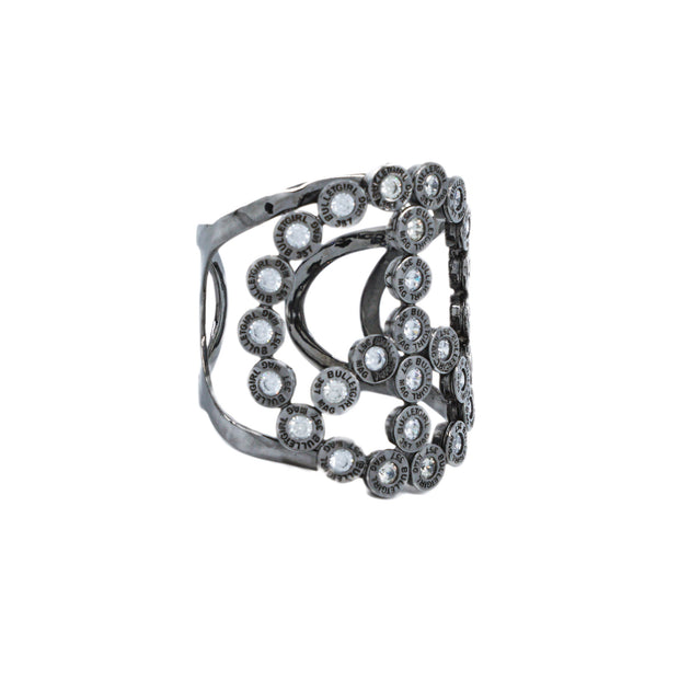 diamond peace cuff