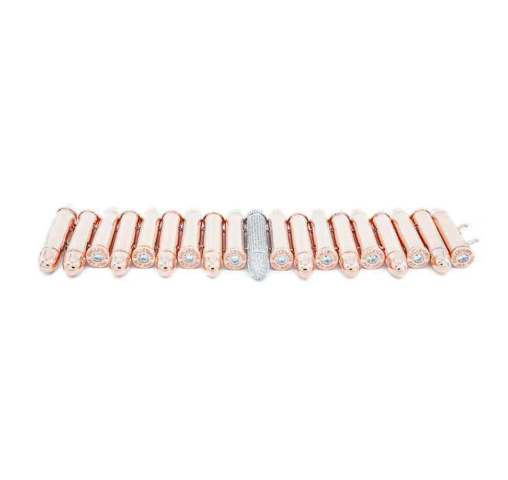 Elektra Single Pavé Rose Gold Bracelet