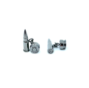 rhodium cufflinks