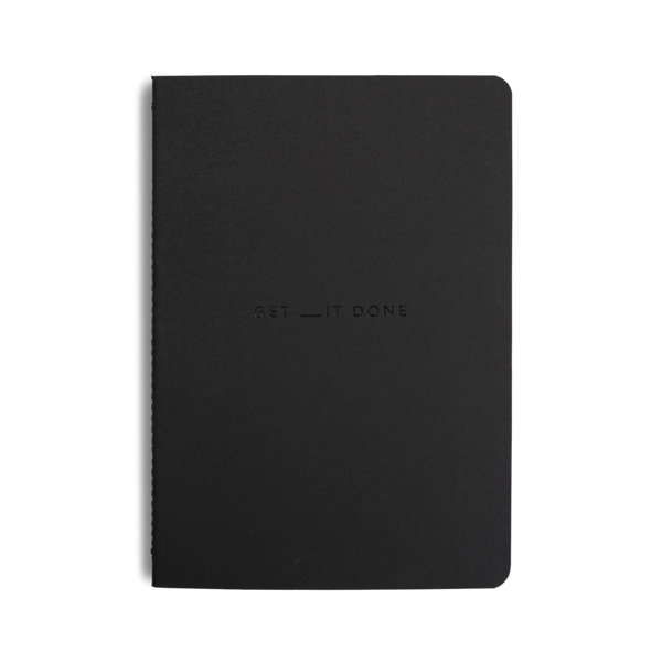Get __it Done Minimal Notebook - Black