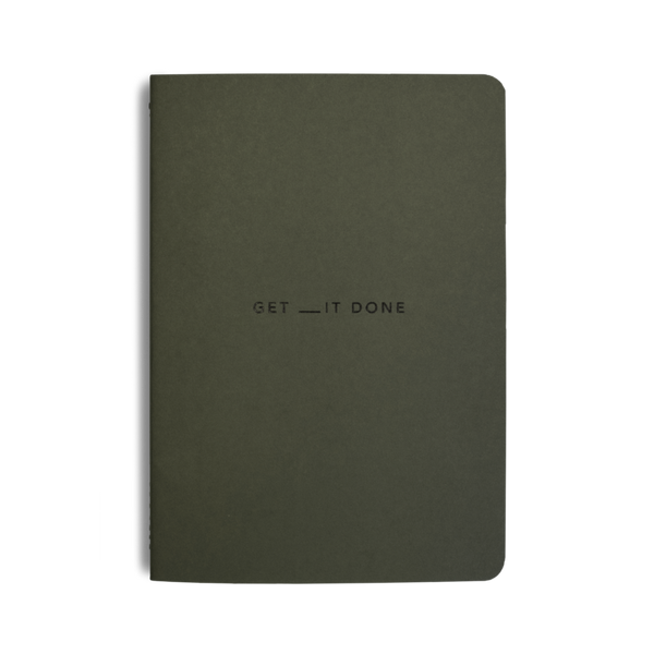 Get __it Done Minimal Notebook - Khaki