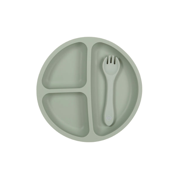 My Little Plate & Spoon Set - Sage