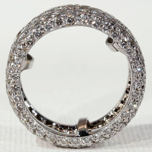 1940s Wide Diamond Eternity Band Ring 4.3 Carat