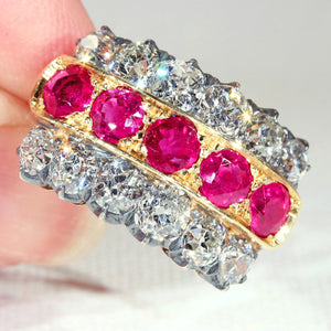 Antique Victorian Diamond and Ruby Ring