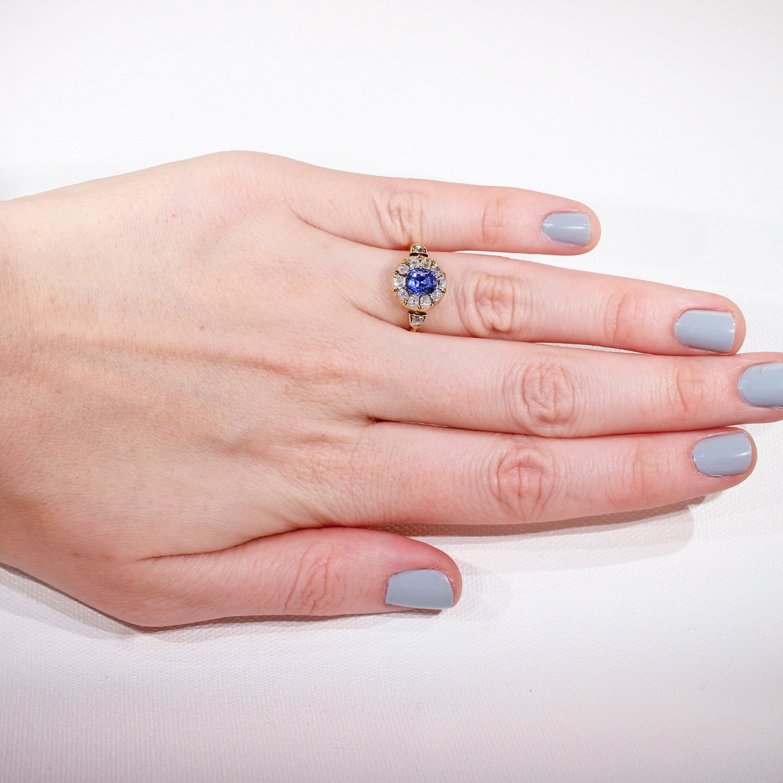 sapphire - Victoria Sterling Antique Jewelry