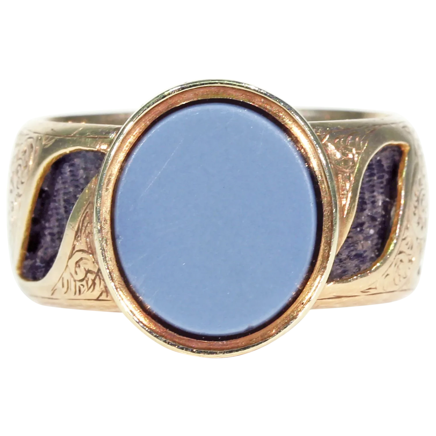Amazing Victorian Memorial Ring Sardonyx Hair 15k Gold