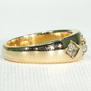 Antique 3 Stone Diamond Ring Engagement or Wedding Band 1 cttw