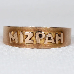 Antique Edwardian 9k Gold Mizpah Ring
