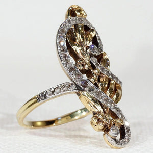 Antique French Art Nouveau Diamond Ring