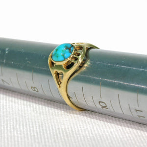 Antique Gold Turquoise Ring by Murrle, Bennett & Co.