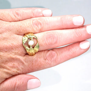 Antique Opal Art Nouveau Ring 18k Gold