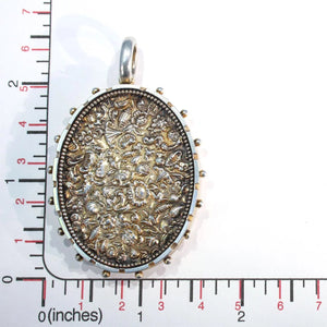 Antique Victorian Silver Repoussed Locket