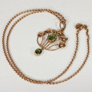 Art Nouveau Murrle Bennett & Company Peridot Gold Necklace