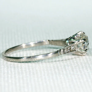 Classic Edwardian Diamond Engagement Ring in Platinum