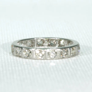 Old European Cut Diamond Eternity Band Ring Size 7.5