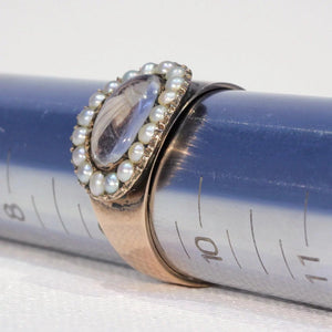 Georgian Pearl Hair Memorial Ring Dated 1801