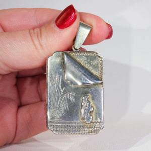 Antique Victorian 'Regard' Locket in Sterling Silver, c. 1880