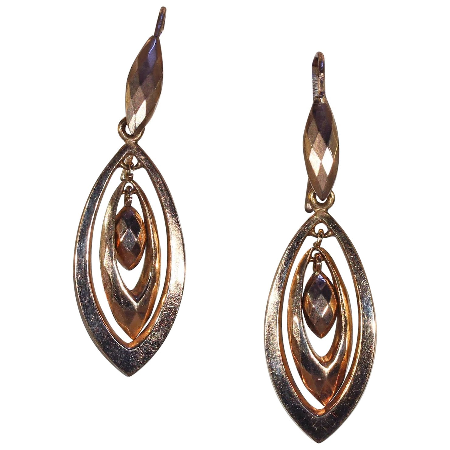 product yellow antique earrings jewelers victorian leaf in enameled black filigree maple gold