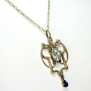 Lovely Art Nouveau Paste Pendant