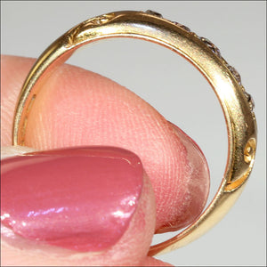 Antique Victorian 5 Stone Diamond Ring in 18k Gold, Hallmarked 1892
