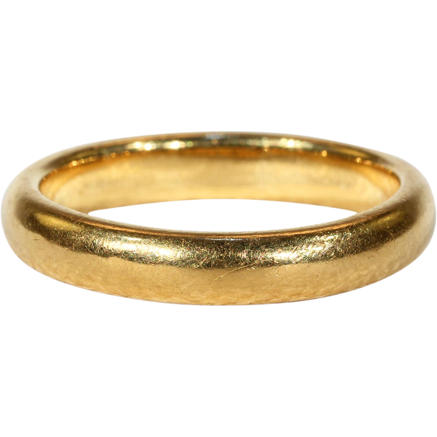 yellow wedding rings classic plain gold band