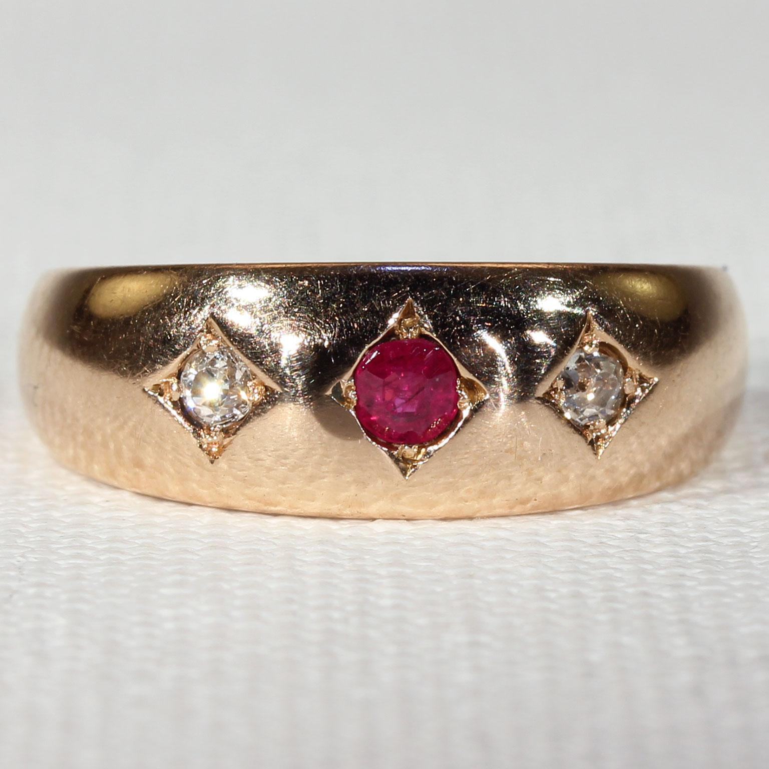 ring engagement circa ruby gold victorian antique cluster diamond rings