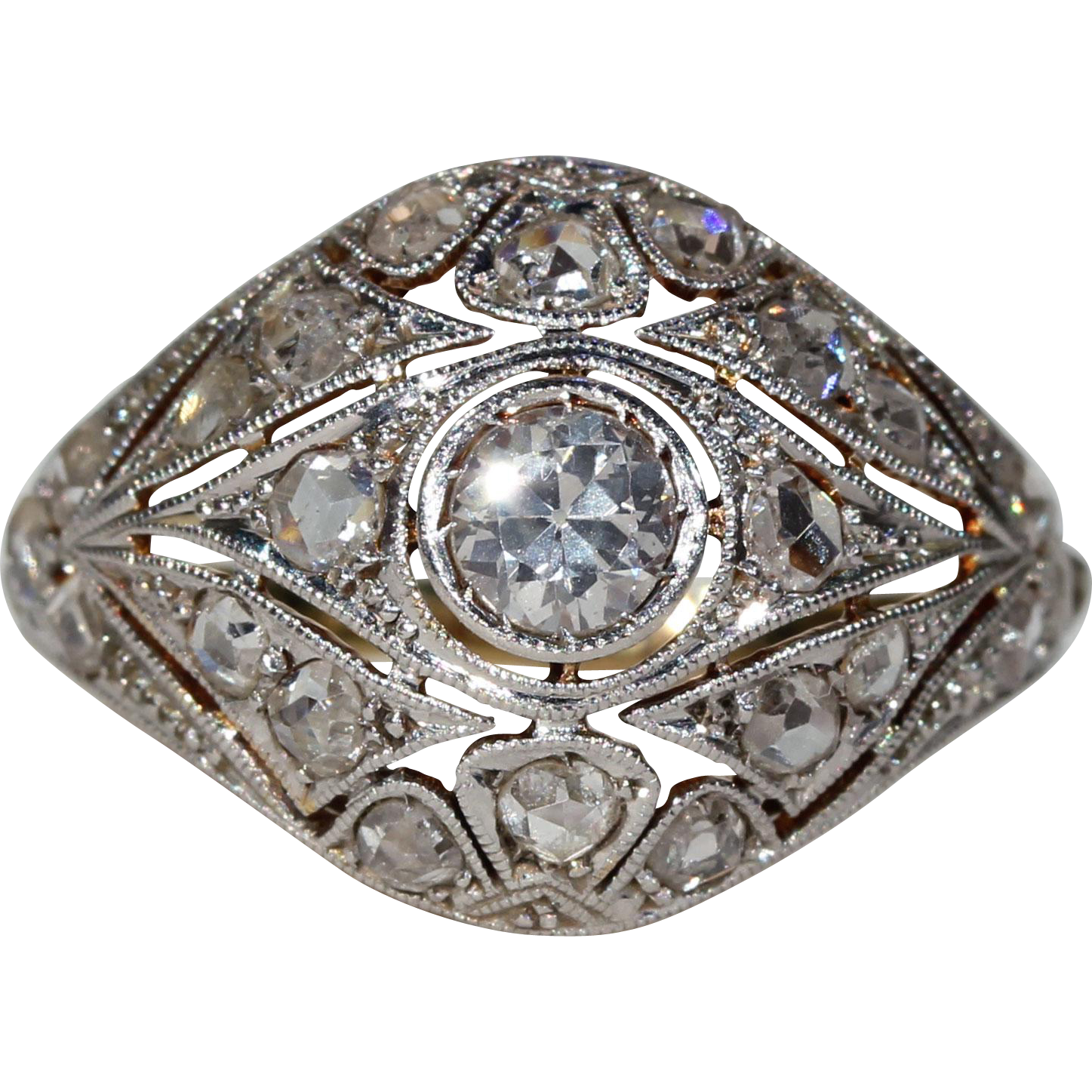 rings vintage in image ring diamond cocktail platinum antiques