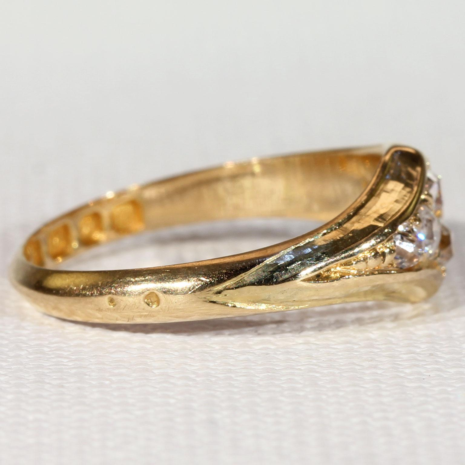 Vintage Art Deco Diamond Ring 18k Gold Hallmarked 1927