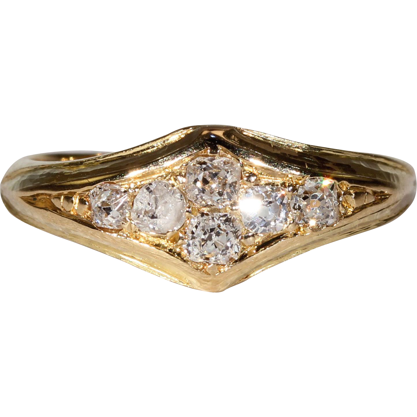 d0b839791 Vintage Art Deco Diamond Ring 18k Gold Hallmarked 1927 - Victoria Sterling Antique  Jewelry