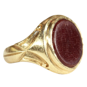 Antique Signet Ring, Carnelian in 18k Gold c. 1900