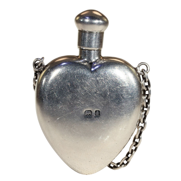 Antique sterling silver heart shaped perfume bottle pendant antique sterling silver heart shaped perfume bottle pendant mozeypictures Choice Image