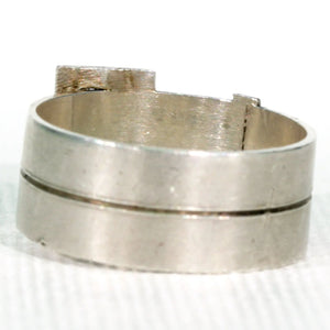 Victorian Double Buckle Silver Ring Hallmarked 1883