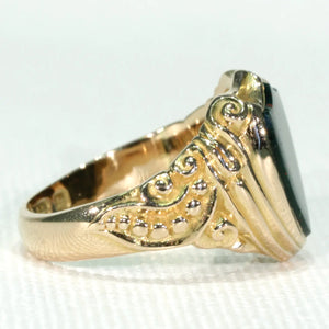 Victorian Shield Shaped Gold Bloodstone Ring Signet