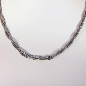 Victorian Silver Double Snake Watch Chain Necklace