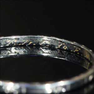 Vintage 18k Gold Light Thin Band Engraved and Inscribed Circa 1937
