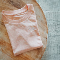 Kinder-Shirt EIS | cream heather pink