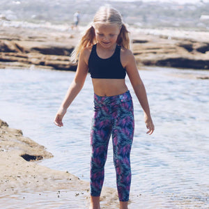 Bubble Active - Active Eco Electric Ferns 7/8 Leggings
