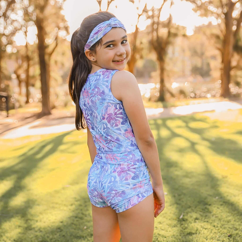 Bubble Active - Active/Swim Eco Pastel Leaves Shorts