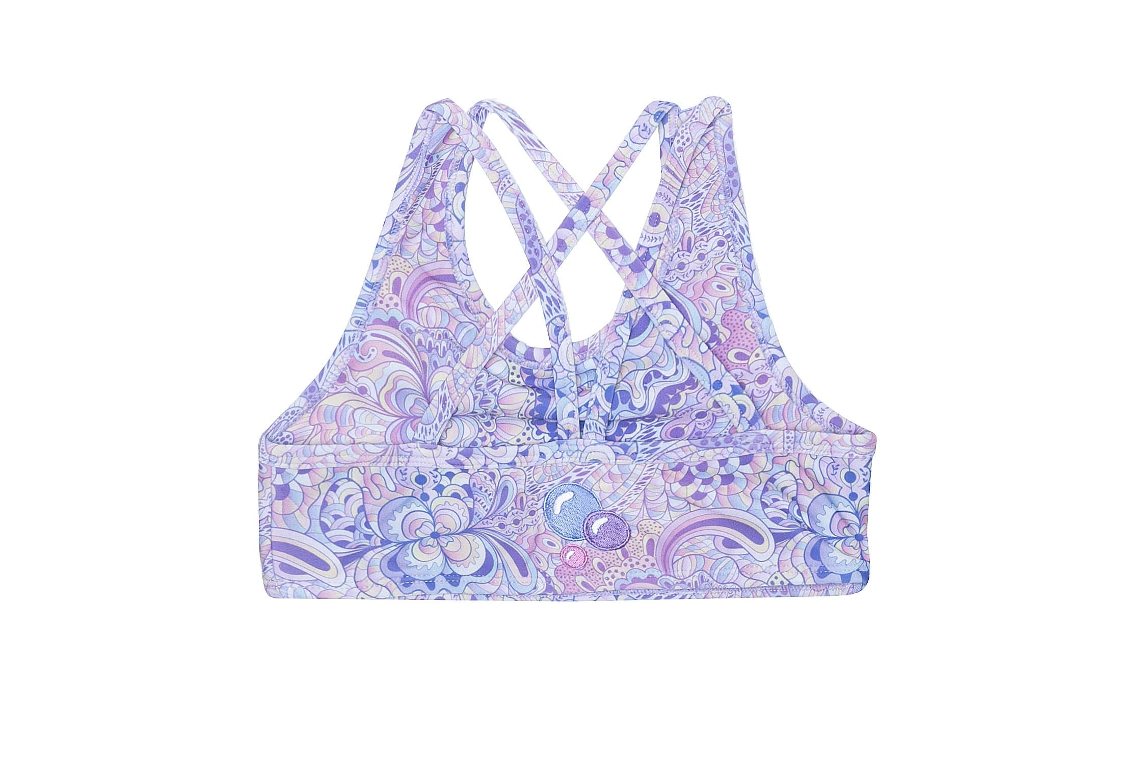 Girls Activewear Double Strap Crop Top Magic Peacock