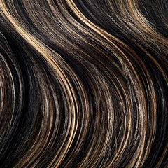 Off Black/Strawberry Blonde Mix Hair Extensions (#1B/27)