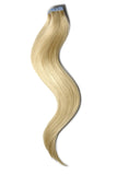 Tape in Remy Human Hair Extensions Light Ash Blonde (#22)